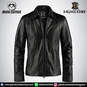 Jual Jaket Kulit Asli Garut Pria Domba Original Brida Leather B08   WA 08813430588