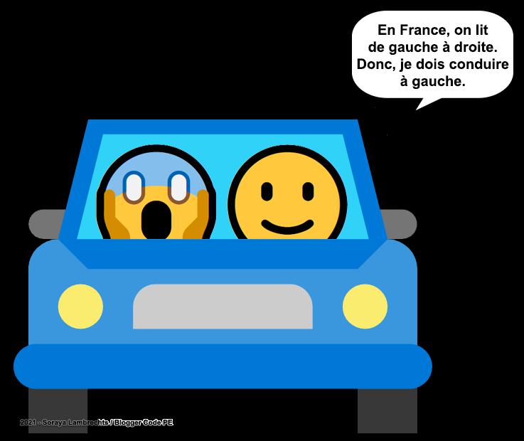 Blogger Humour - Smiley apprend à conduire.