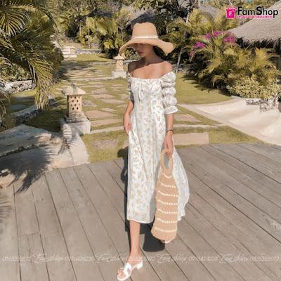 Váy maxi đi biển V312
