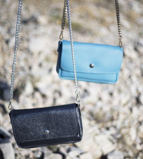 Minis bags Blue Lover et Silver Lover de la Collection Le Bleu de Margaux-Lou Maroquinerie