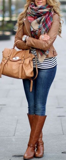 31 Cute Fall Street Style Outfit Ideas with Scarf