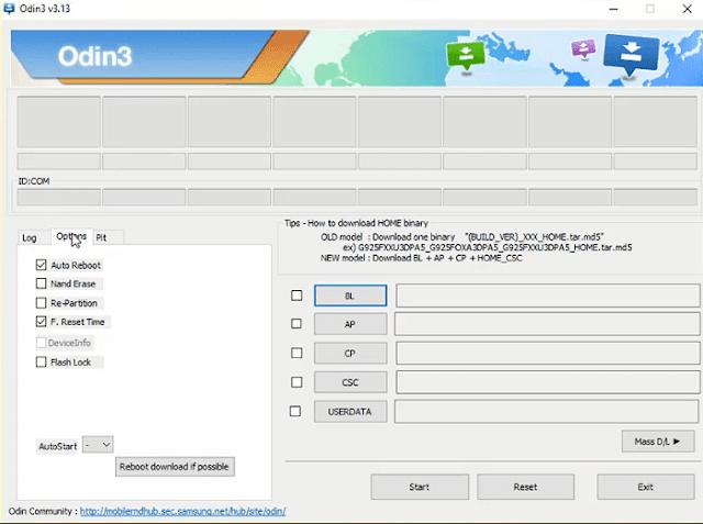 شرح برنامج Odin v3.13.1 وكيفية عمل سوفت وير لهاتف سامسونج