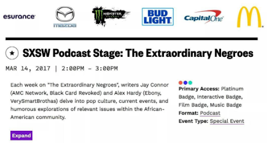 Come check out The Extraordinary Negroes at SXSW in Austin, TX