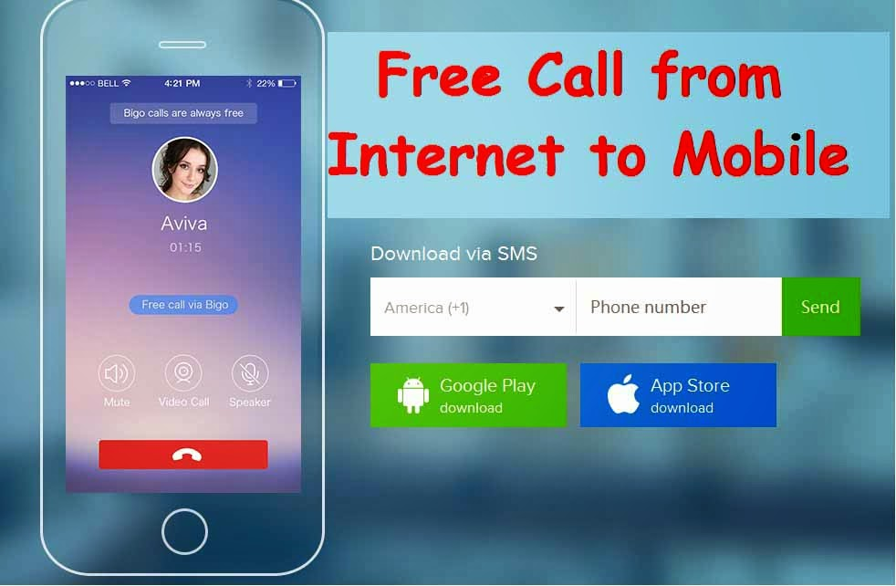 how to call using internet to mobile for free