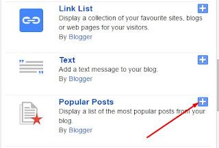 popular post in blogger