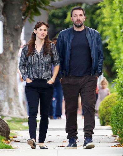 moving truck when Jennifer Garner and Ben Affleck