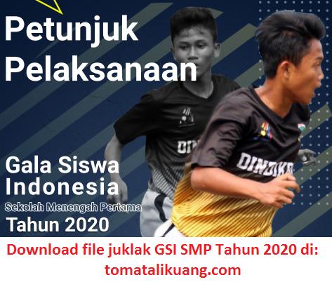 juklak gala siswa indonesia gsi smp 2020; tomatalikuang.com