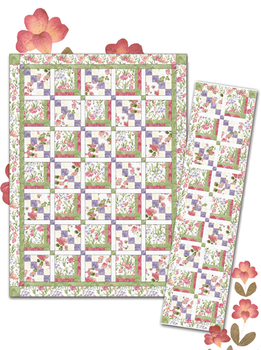 The Secret Garden Quilt designed by Tailormade by design for Benartex