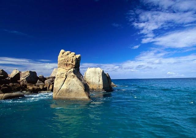 stone in sea