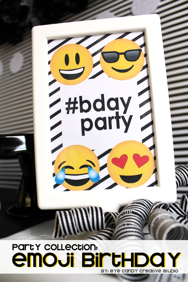 so emojinal, emoji party, teen birthday party, emoji birthday, selfie party