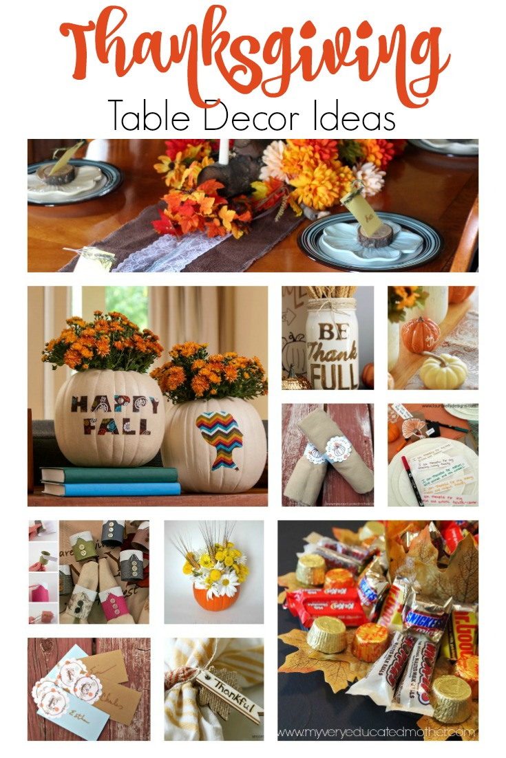 Here's a collection of eleven Thanksgiving, Fall, Autumn table decorating ideas!