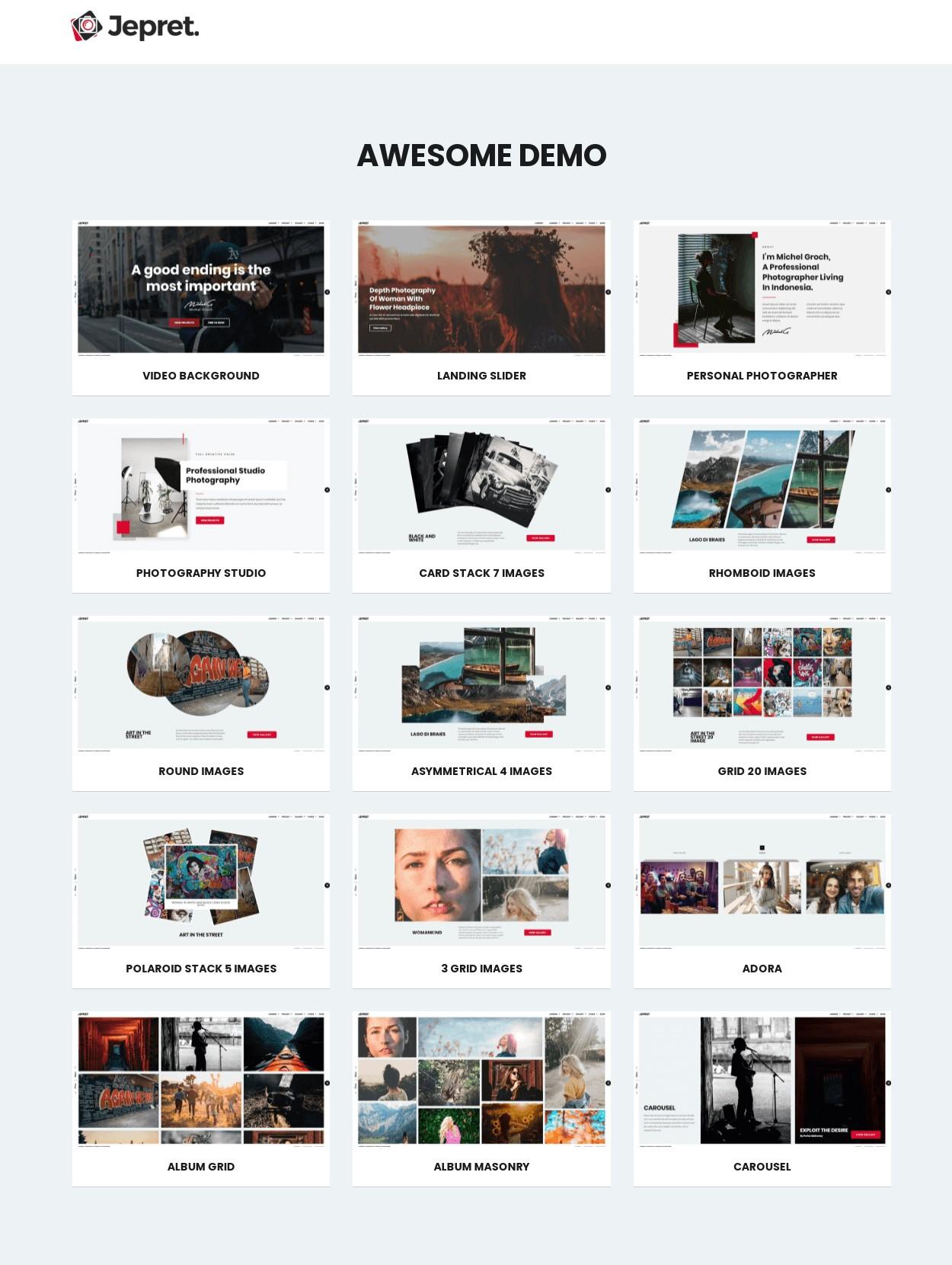 Jepret   Modern Photography WordPress Theme