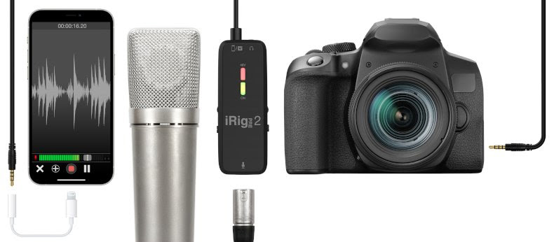 IK Multimedia announces iRig Pre 2 Mobile XLR Microphone Interface