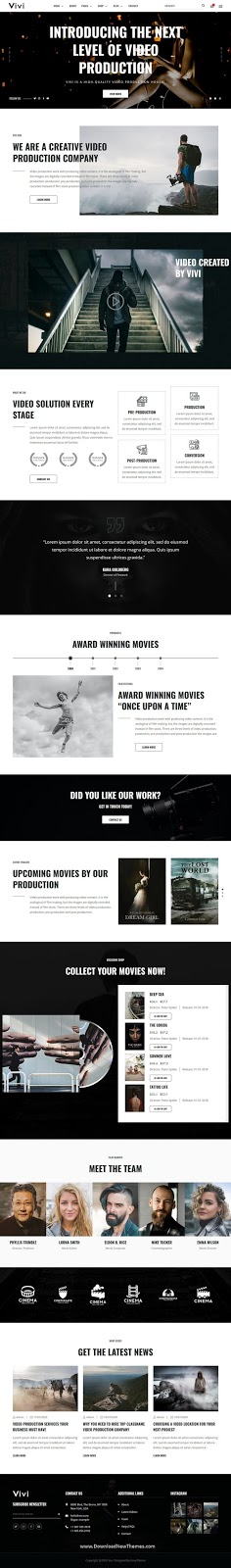 Best Video Production & Movie Website Template