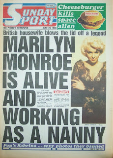 Front cover of the Sunday Sport British tabloid newspaper from 26 June 1988