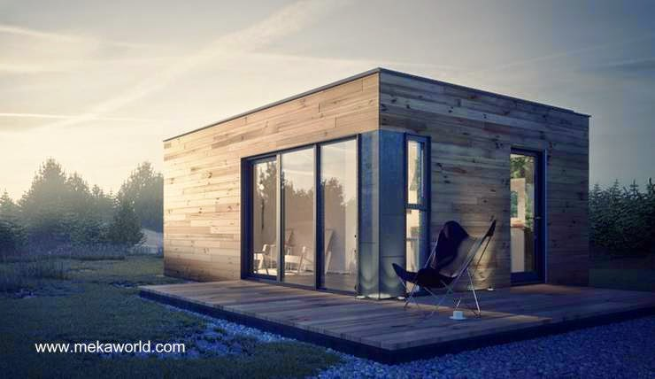 Cabaña de un módulo terminada en madera producida en Canadá