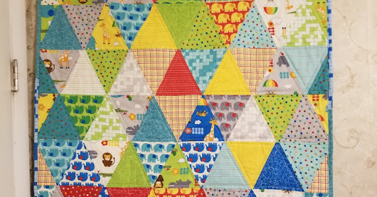 Triangle Quilt out of Bungle Jungle