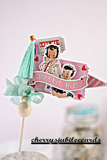 Table Top Valentine Decoration by Cherry's Jubilee Cards