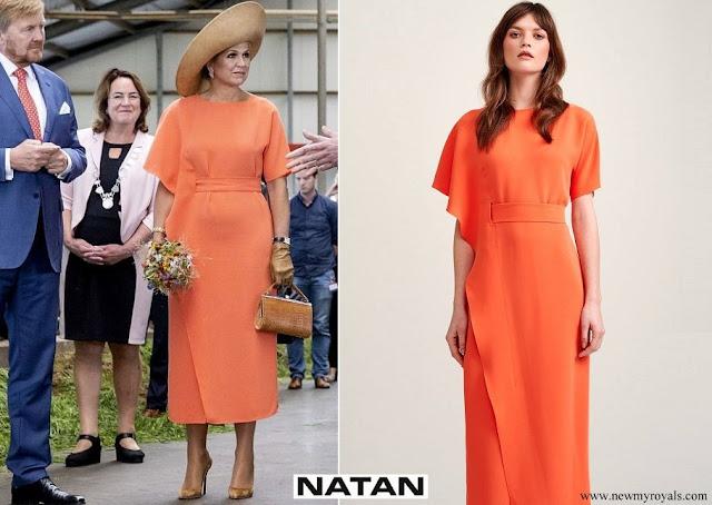 Queen Maxima wore Natan color dress