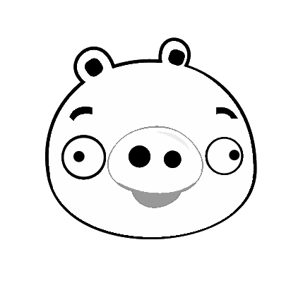Pig from angry birds coloring coloring pages for Angry bird pig template