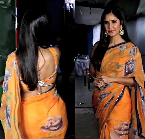 Katrina Kaif in saree backless blouse bollywood actress
