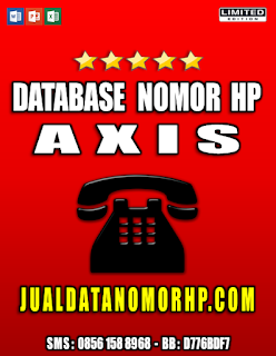 Jual Database Nomor Handphone Khusus Axis
