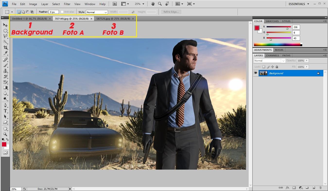 Adobe Photoshop Menggabungkan 2 Foto Atau Lebih Model Bebas Potong Tempel