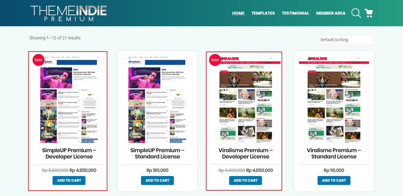 Harga Template Premium Blogger Ini Tembus Jutaan Rupiah