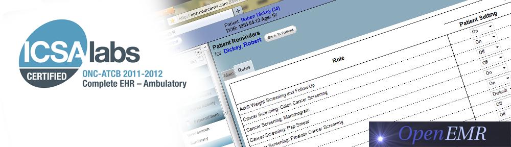 oemr المركز يعمل بنظام قواعد البيانات الطبية الاليكترونية المعتمد بالولايات المتحدة الأمريكية