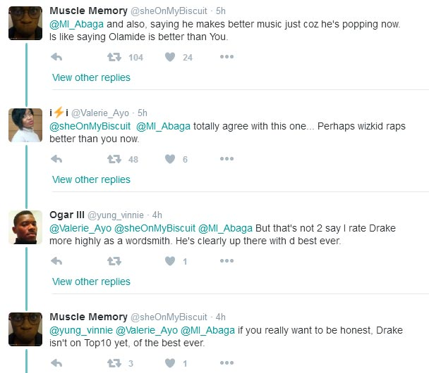 Nigerians roast MI Abaga for saying Drake is better than Eminem