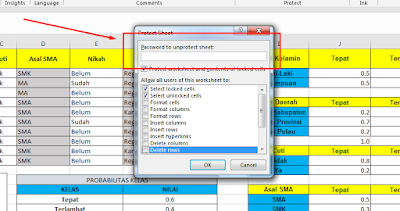 Mengunci Cell Excel