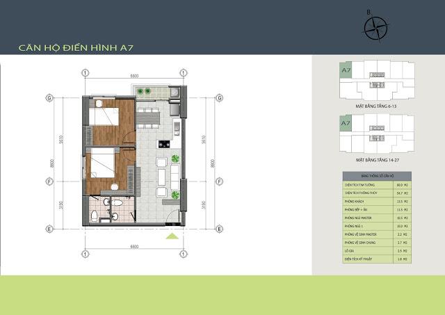 Thiết kế căn hộ A7 Hồng Hà Tower