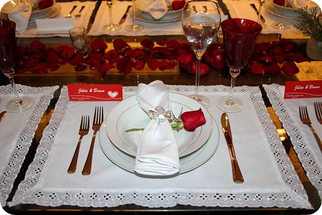 Decoração do Jantar Dia dos Namorados