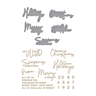 YANA'S CHRISTMAS SENTIMENTS Glimmer Hot Foil Plate and Dies