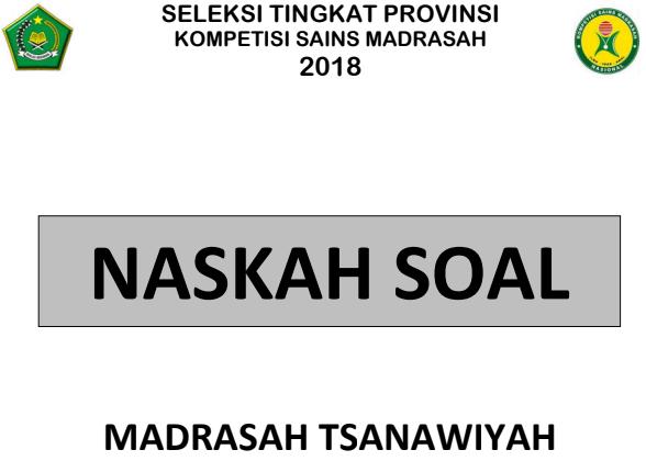 Download Soal Asli Ksm 2019 Mts Tingkat Provinsi Catatan Kimia Catatan Kimia