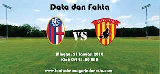 Data dan Fakta Liga Fantasia Serie A Bologna vs Benevento Fantasi Manager Indonesia
