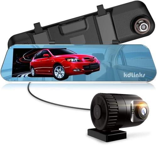 KDLINKS R100 Ultra HD Mirror Dual Lens Dash Cam