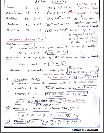 Chemistry Chapterwise Notes (Boron and Carbon Family) : For JEE and NEET Exam PDF Book
