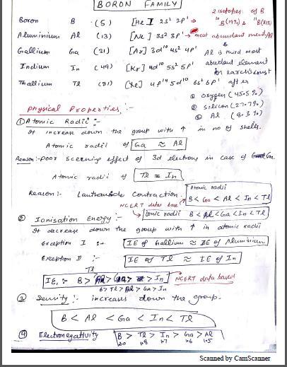 रसायन विज्ञान चैप्टरवाइज नोट्स (Boron and Carbon Family) : JEE and NEET परीक्षा हेतु पीडीएफ पुस्तक | Chemistry Chapterwise Notes (Boron and Carbon Family) : For JEE and NEET Exam PDF Book