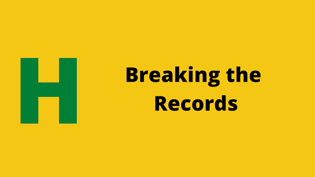 HackerRank Breaking the Records problem solution