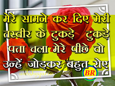 tasveer shayari hindi me