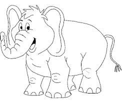 Adorable Baby Elephant Coloring Sheet Images Online