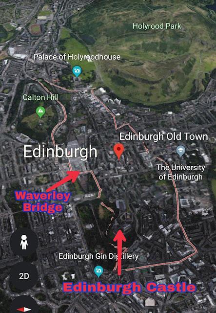 Edinburgh Castle dan Edinburgh Old Town Map