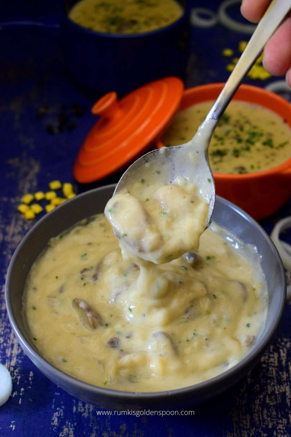 Mushroom Cheddar Soup Mushroom Soup No Cream Mushroom And Cheese Soup Rumki S Golden Spoon