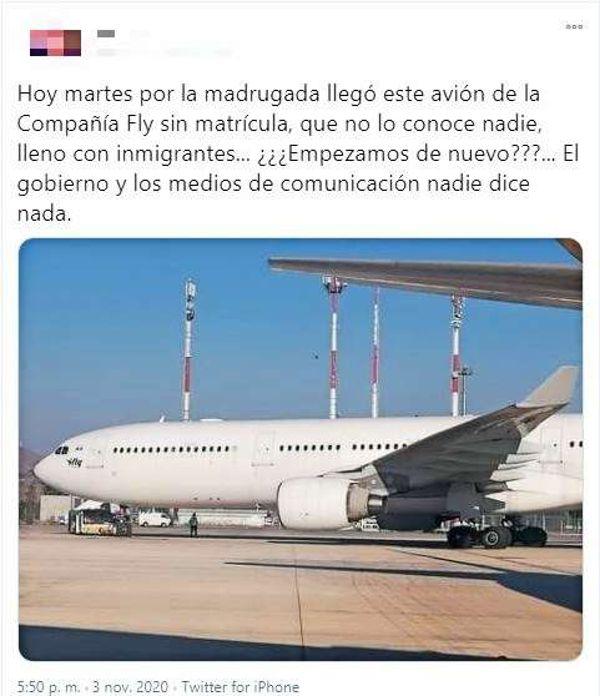 No ingresó al país un avión ruso lleno de inmigrantes