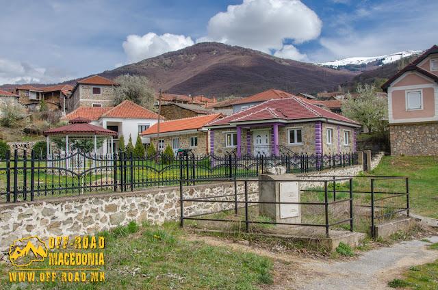 Monument in the center of #Brajcino village, #Prespa region, #Macedonia