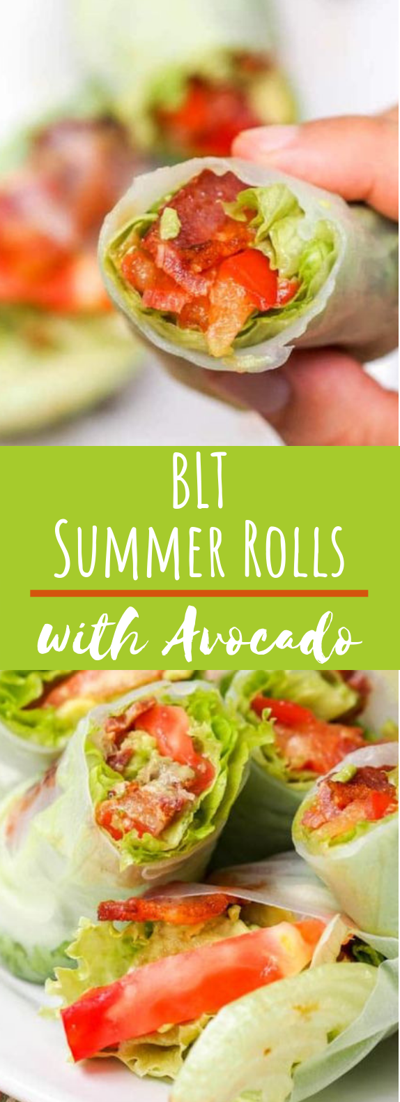 BLT Lettuce Wraps with Avocado #healthy #lunch