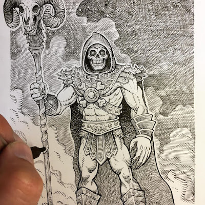 "MondoCon 2019 Exclusive Masters of the Universe ""Evil Lord of Destruction"" Skeletor Original Art by Florian Bertmer"