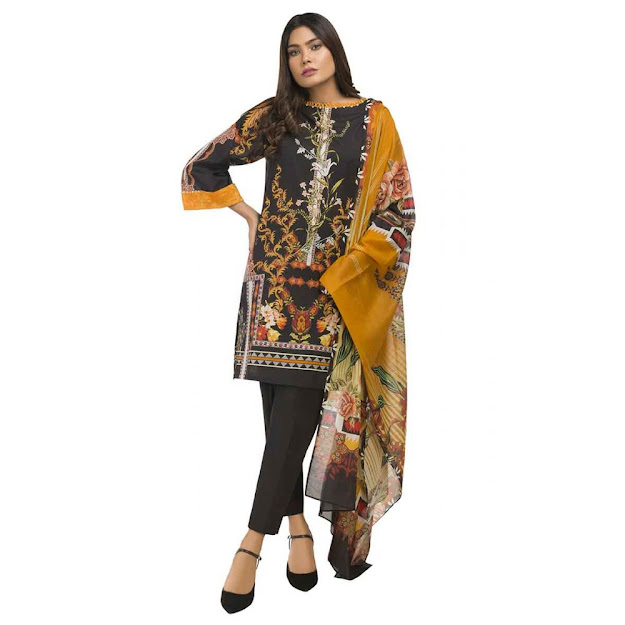 Gul Ahmed ready to wear digital multi colors collection