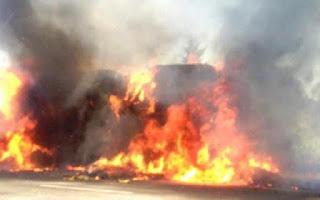 Изгорели войници от транспортни войски